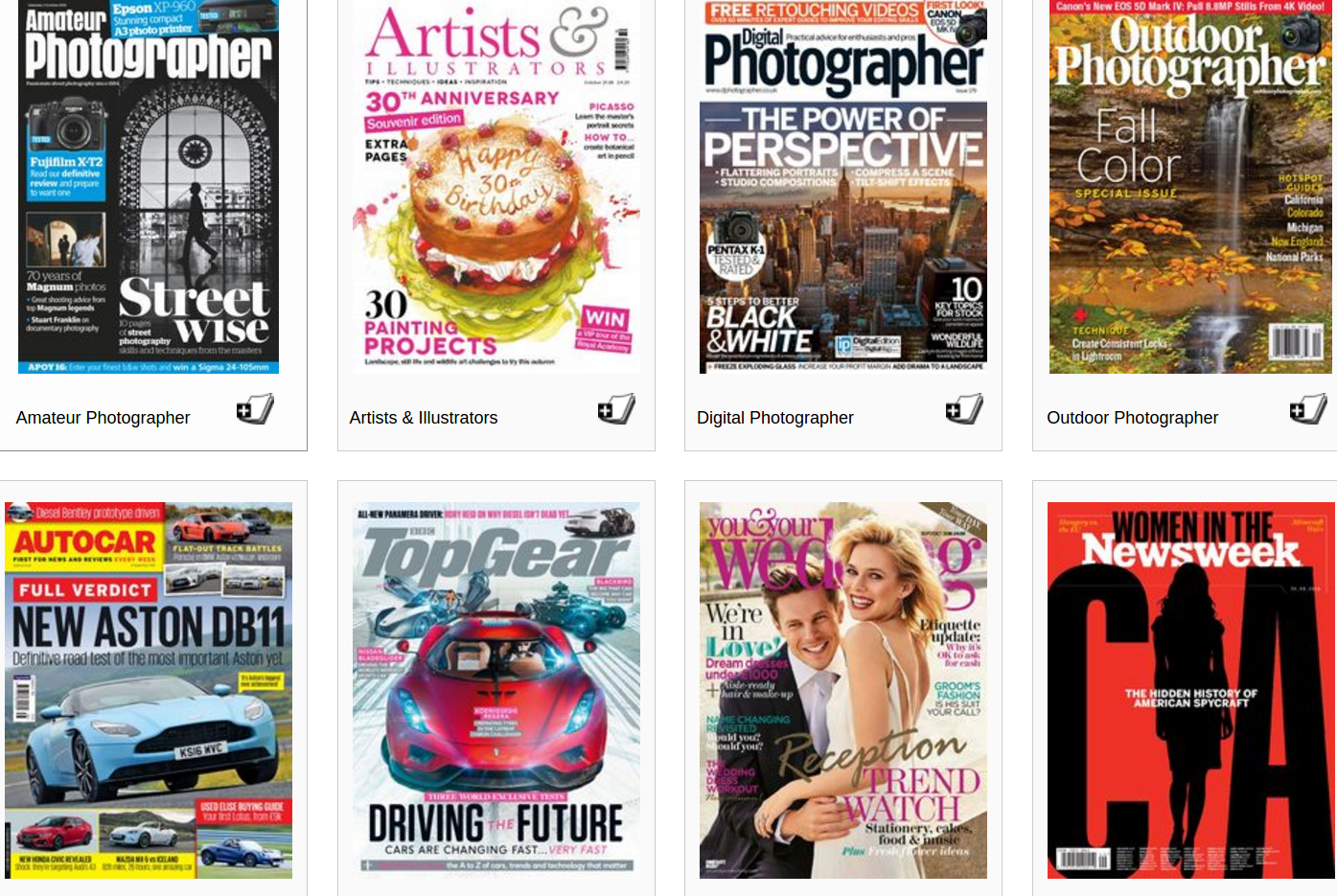 Did you know you can read all these magazines online for